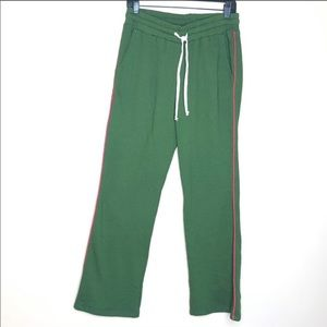 Sundry Flared Jogger Pant Wide Leg Piped Sweatpant